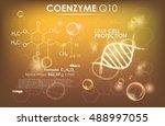 coenzyme q10. supreme collagen... | Shutterstock .eps vector #488997055