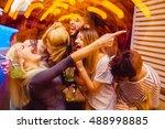 people in night club dancing ... | Shutterstock . vector #488998885