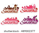 set of creative stickers  tags... | Shutterstock .eps vector #489002377