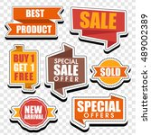 creative sticker  tag  label ... | Shutterstock .eps vector #489002389