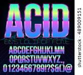 acid lollipop style retro... | Shutterstock .eps vector #489009151