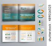 classic business brochure... | Shutterstock .eps vector #489016525