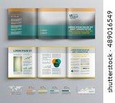 classic business brochure... | Shutterstock .eps vector #489016549