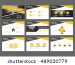 yellow black abstract... | Shutterstock .eps vector #489020779