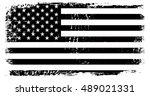 grunge american flag.vector... | Shutterstock .eps vector #489021331