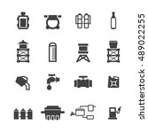 tank pipe icons set vector   Shutterstock .eps vector #489022255