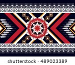 geometric ethnic oriental... | Shutterstock .eps vector #489023389