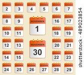 set of icons for the calendar...   Shutterstock .eps vector #489023854