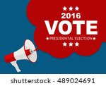 presidential election vote 2016 ... | Shutterstock .eps vector #489024691