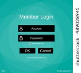 login form menu with simple...
