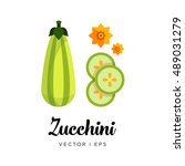 Striped Zucchini Vector...