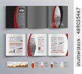 gray classic business brochure... | Shutterstock .eps vector #489035467