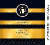 vip party premium invitation...   Shutterstock .eps vector #489043219