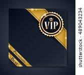 vip club party premium... | Shutterstock .eps vector #489043234