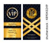 vip party premium invitation...   Shutterstock .eps vector #489043249