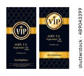 vip party premium invitation... | Shutterstock .eps vector #489043399