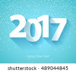 happy new year 2017 background. ... | Shutterstock .eps vector #489044845
