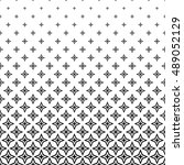 black and white thorn pattern... | Shutterstock .eps vector #489052129