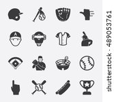 baseball vector icon | Shutterstock .eps vector #489053761