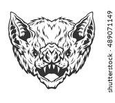 head vampire bat. | Shutterstock .eps vector #489071149