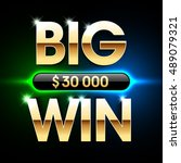 big win banner background for... | Shutterstock .eps vector #489079321