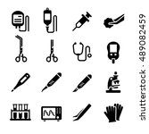 medical equipment tool vector... | Shutterstock .eps vector #489082459