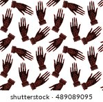 seamless pattern abstract boho... | Shutterstock .eps vector #489089095
