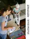 senior woman with home help | Shutterstock . vector #48909469