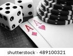 poker stock photo high quality  | Shutterstock . vector #489100321