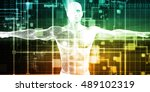 healthcare technology and... | Shutterstock . vector #489102319