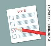 voting concept picture. blank... | Shutterstock .eps vector #489103435