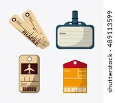 labels and tags of baggage and... | Shutterstock .eps vector #489113599