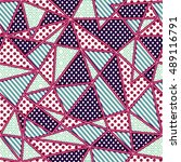 geometric fabric seamless... | Shutterstock .eps vector #489116791