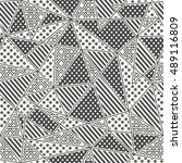 monochrome fabric seamless... | Shutterstock .eps vector #489116809