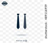 necktie vector icon | Shutterstock .eps vector #489116959