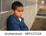 upset little boy.   Shutterstock . vector #489117124