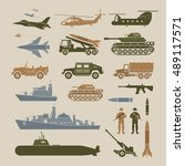 military vehicles object... | Shutterstock .eps vector #489117571