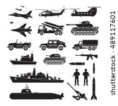 military vehicles object... | Shutterstock .eps vector #489117601
