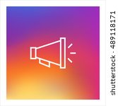 loudspeaker icon vector  clip... | Shutterstock .eps vector #489118171