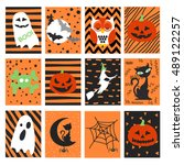 halloween set | Shutterstock .eps vector #489122257