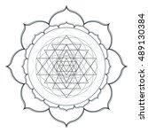 vector contour monochrome...   Shutterstock .eps vector #489130384