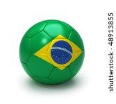 3d soccer ball with brazil flag ... | Shutterstock . vector #48913855