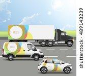 white transport advertising... | Shutterstock .eps vector #489143239
