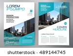 business brochure flyer design... | Shutterstock .eps vector #489144745