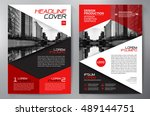 business brochure flyer design... | Shutterstock .eps vector #489144751