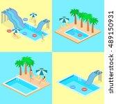creative modern isometric... | Shutterstock .eps vector #489150931