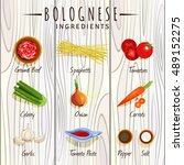 vector image. bolognese.... | Shutterstock .eps vector #489152275