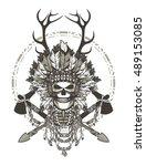 vector illustration of a dead... | Shutterstock .eps vector #489153085