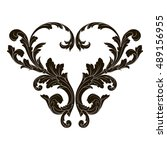 vintage baroque element... | Shutterstock .eps vector #489156955