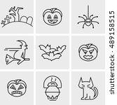 set of halloween  | Shutterstock .eps vector #489158515